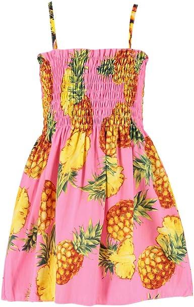 Yikey Toddler Girl Summer Dress Print Party Wedding Sleeveless Dress