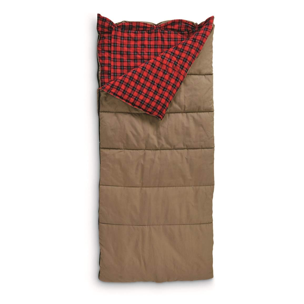 Guide Gear Canvas Hunter Sleeping Bag with Pillow Pocket, 40°F