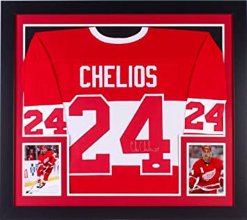 Image Unavailable. Image not available for. Color  Chris Chelios Detroit  Red Wings Autographed Signed 31X35 Custom ... 019e17a23