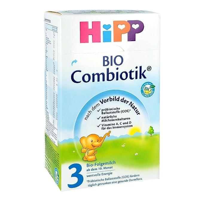 Hipp Orgánico Combiotik 3 leche de continuación - del 10 al mes, 600g