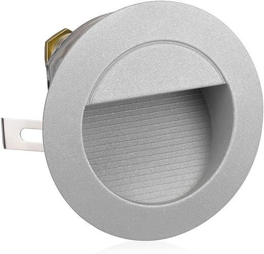 parlat LED lámpara de escalera lámpara empotrable en la pared para el exterior, redondo, blanca cálida, 230V: Amazon.es: Iluminación