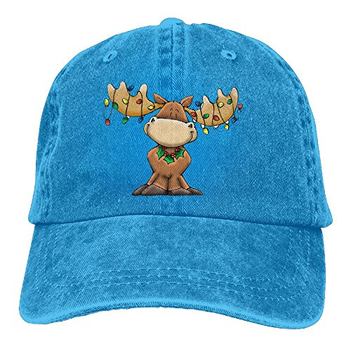 fan products of Antonia Surrey Christmas Elk Love Basketball Baseball Cap Skull Cap Vintage Hat Baseball Cap Dyed Cap Clean Up Adjustable Hat RoyalBlue
