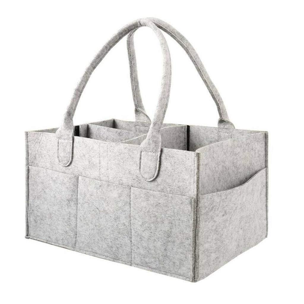 Lomsarsh Infant Nappy Storage Bin Baby Diaper Wipes Bag Caddy Organizer Basket Baby Diaper Storage Bag Portable Car Travel Diaper Bag Organizer