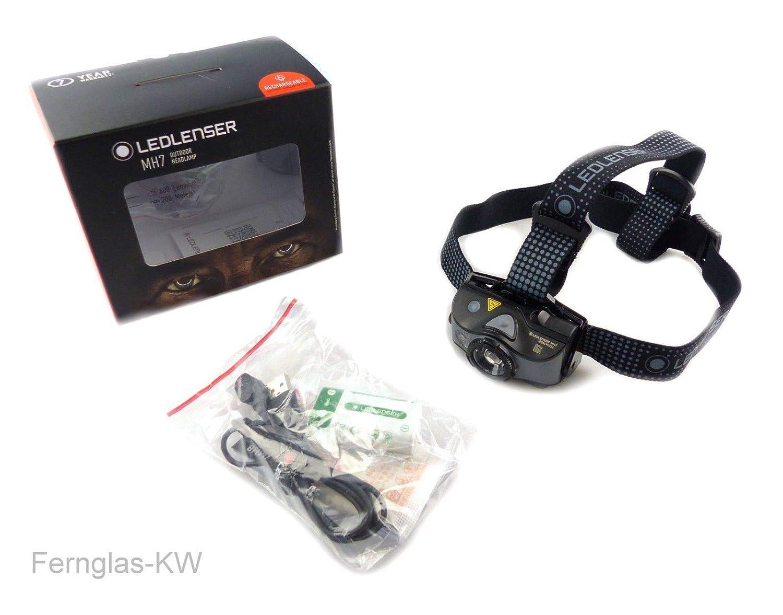 Zweibrüder LED Lenser MH7 Stirnlampe grau 2019 Stirn-Lampe
