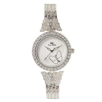 XXTT para Mujer Rhinestone Mariposa Pulsera Relojes ...