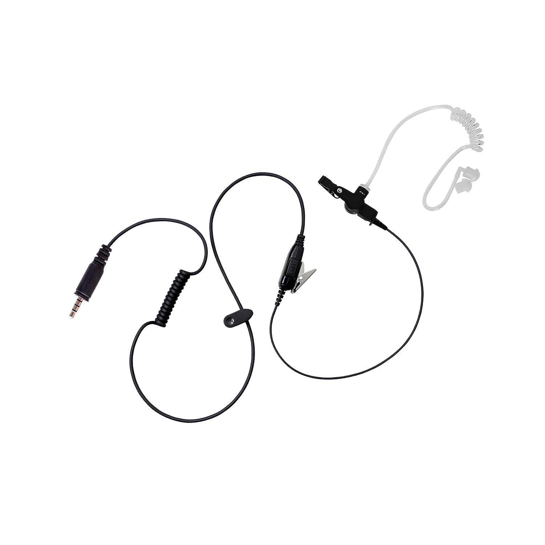 BOMMEOW BCT12-K4 Walkie Talkie 1-WIre Covert Acoustic Tube Surveillance Earpiece for Kenwood PKT-23 Portable