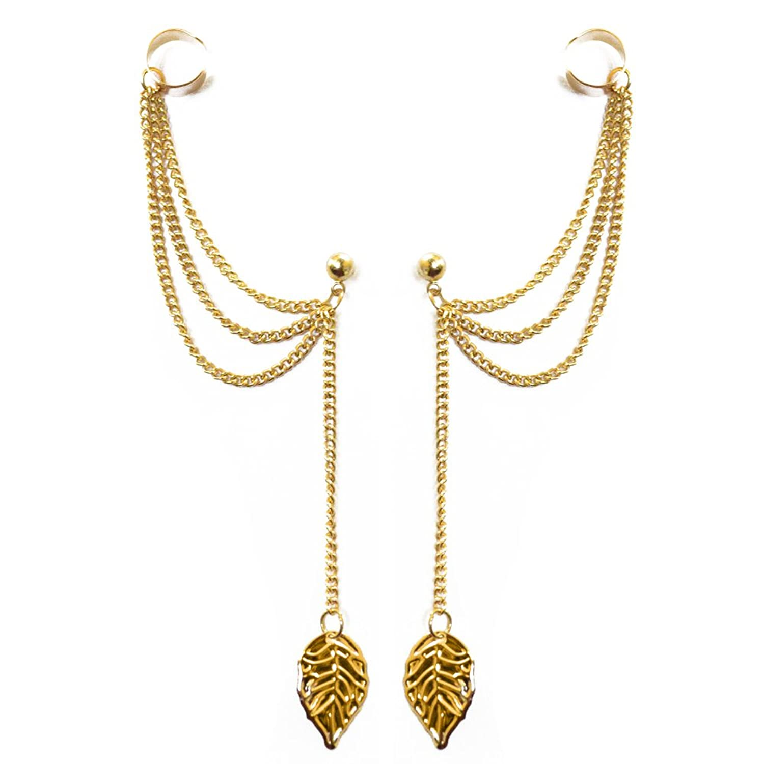 Buy Via Mazzini Golden Linings Chain Ear Cuff Earrings Set Online ...