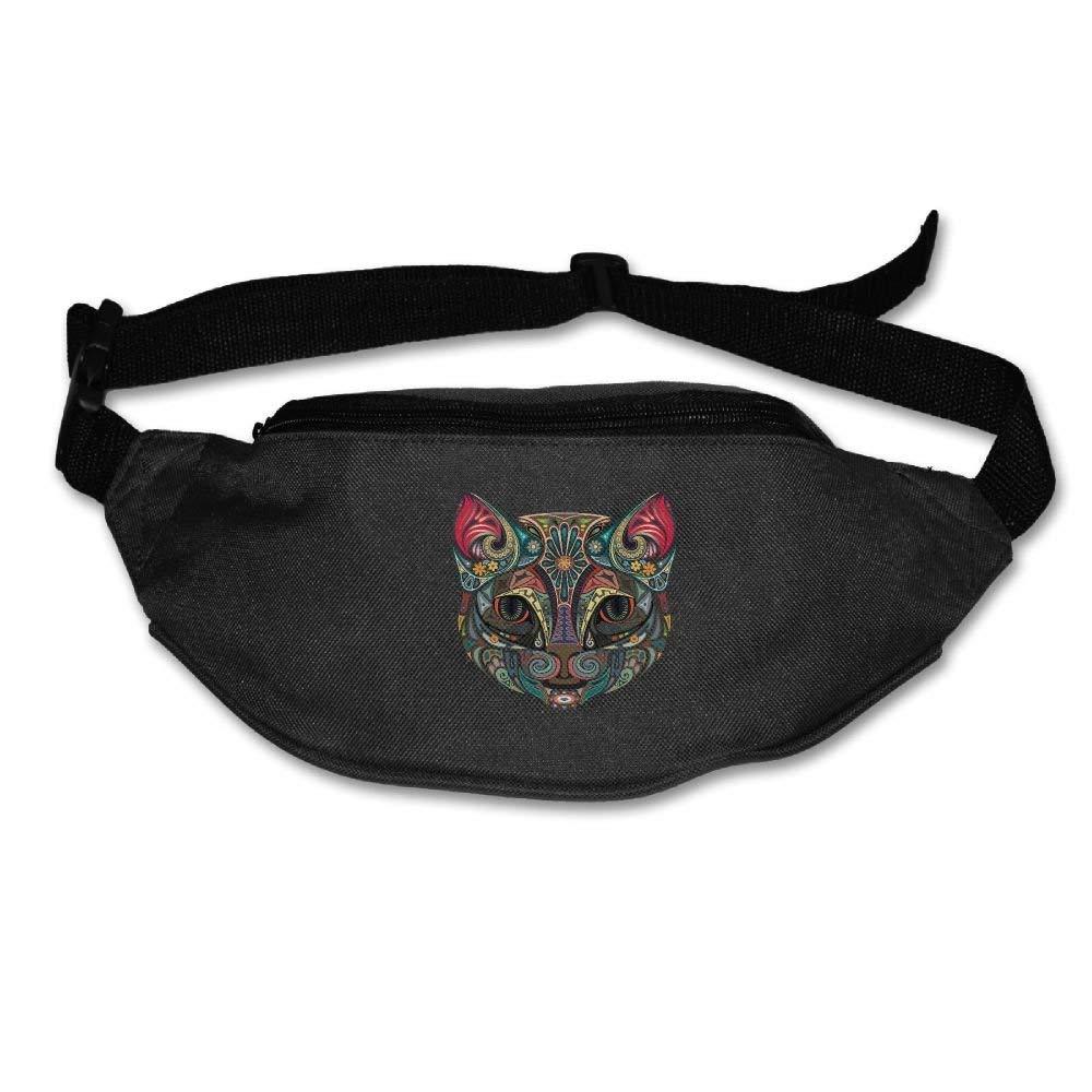 Waist Purse Art Animal Head Love Unisex Outdoor Sports Pouch Fitness Runners Waist Bags