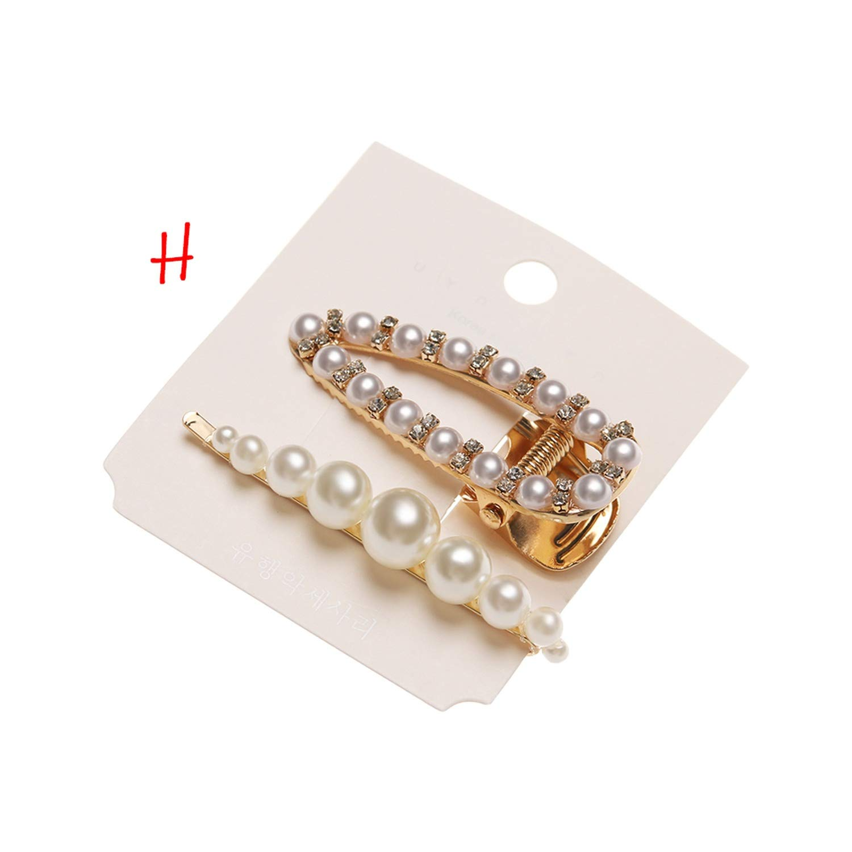 2pcs//set Women Hair Clips Pearl Stick Barrette Hairpins Hair Accessories Jewelry