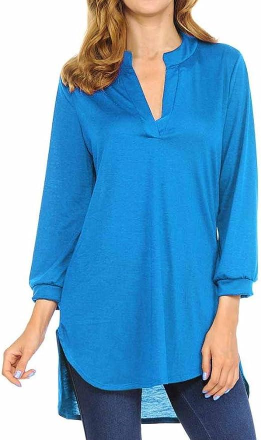 Prevently - Blusa de mujer para verano, estilo casual, cuello ...