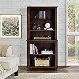 Ameriwood Home 9662196COM San Antonio Veneer Wood Bookcase, Espresso
