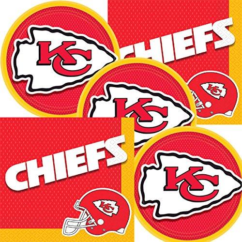 Kansas City Chiefs NFL Football Team Logo Plates And Napkins Serves 16