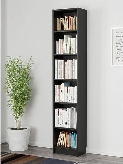 IKEA BILLY - Estantería (40 x 28 x 202 cm), color negro y marrón