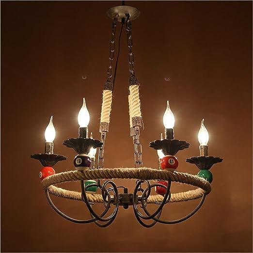 Lámparas de araña Cuerda retro lámpara dormitorio comedor ...