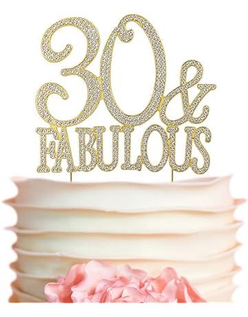 40 And Fabulous Rhinestone Cake Topper
