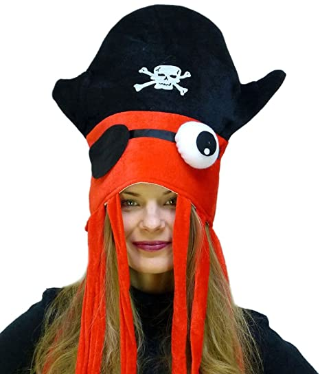 Amazon.com  Cool Pirate Squid Hat by Funny Party hats  Clothing fce9f2cd2d4