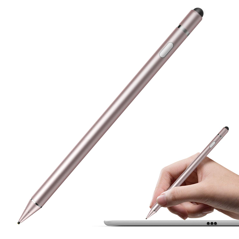 Rose Gold MoKo Universal Active Stylus 1.5mm High Precision Sensitivity Capacitive Pen Metal Stylus Pen Compatible with iPad 9.7 2018 // iPad 9.7 2017 // iPad Pro 10.5