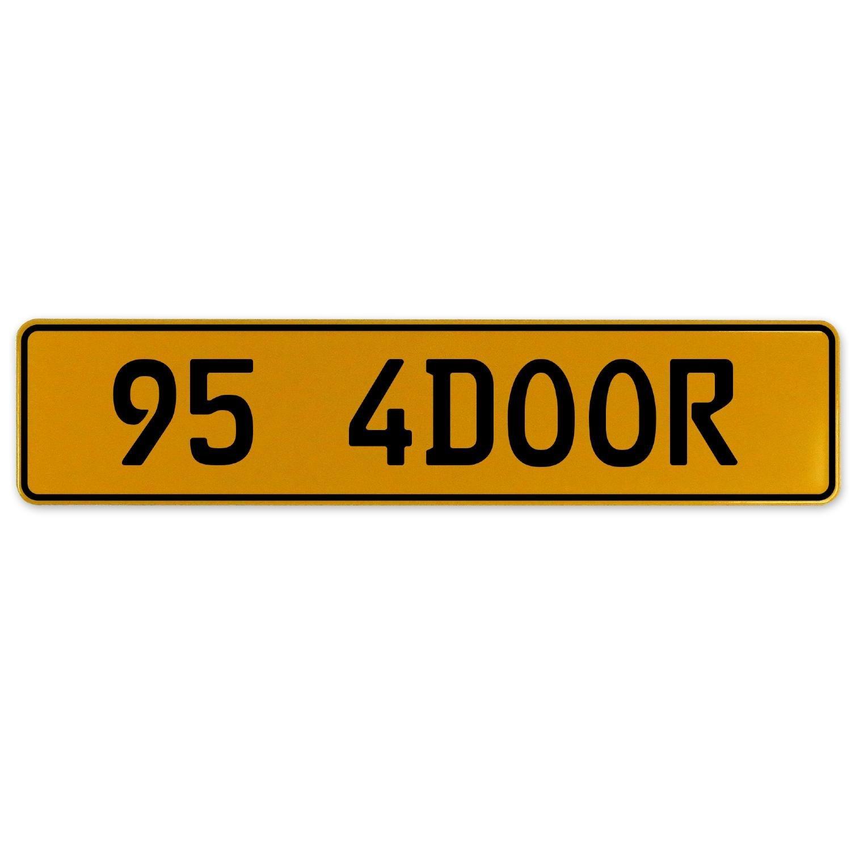 Vintage Parts 563207 95 4DOOR Yellow Stamped Aluminum European Plate