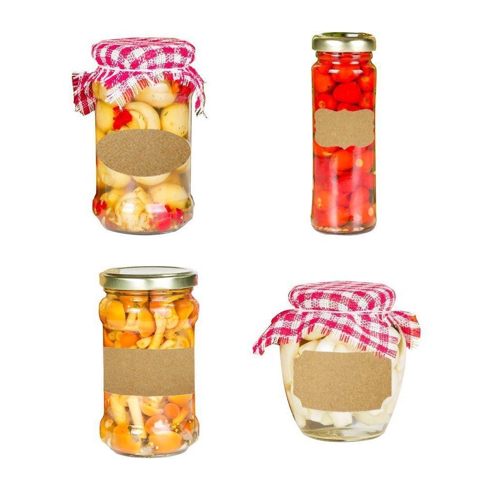 Essential Oil Bottle Marker Labels-Fancy Kraft Paper Stickers For Cosmetic Classification (6sheet-192pcs) by Elandy (Image #6)