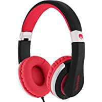rockpapa I22 Foldable Adjustable On Ear Headphones With Microphone For Kids/Adults iPhone iPad iPod Tablets MP3/4 DVD…