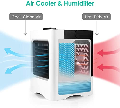 Mini Climatizador Portatil,Air Portatil Cooler 4 en1, Climatizador ...