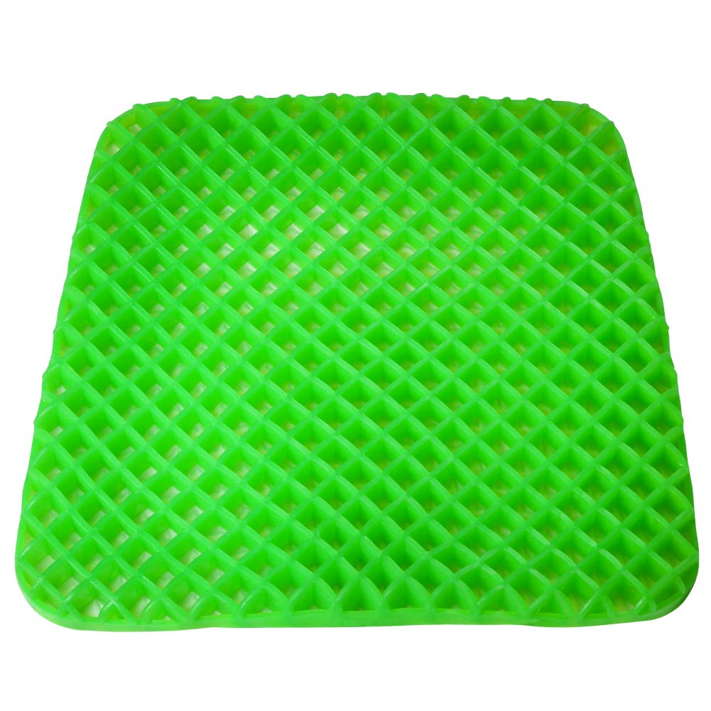 Gel Seat Cushion - Cool and Ventilated - Non-Slip, Seat Cushion - Relieves Sciatica and Coccyx Pain Housefar
