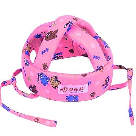 Bebé Casco de seguridad Casco para sombreros Cap no golpes ajustable para niños niños niñas (