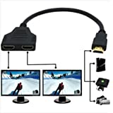 Adaptador divisor HDMI dual de 1 macho a 2 hembras Sys para TV HD LED LCD