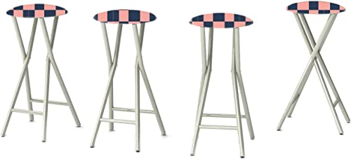 Best of Times 13169W2100-NP Check ME Out 30 Padded Bar Stools-Set of 4
