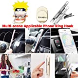 ZOEAST(TM) Phone Ring Stand Make Faces Super Hokage Ninjia Universal 360° Adjustable Holder Car Hook Grip Stent Mount Kickstand Compatible All iPhones Samsung Android Pad Tablet