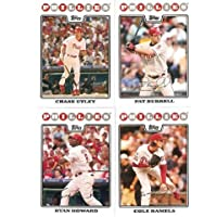 $35 » 2008 Topps Philadelphia Phillies Complete Team Set (22 - Baseball Cards from both Series 1 & 2) Includes Chase Utley, Jimmy Rollins, Ryan…
