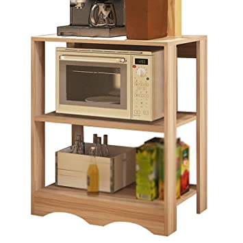 Kitchen Furniture - Hogar-como Madera Maciza Horno de microondas ...