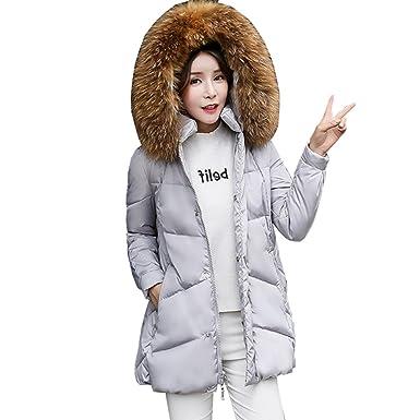 6a97d0606 Amazon.com: Oversized A-Shape Women Down Jacket 2017 Winter Female ...