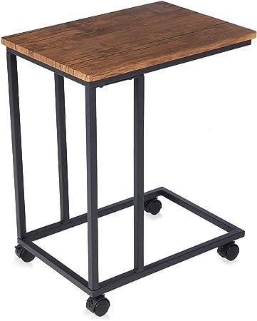 Makika Design Vintage Table D Appoint Table Basse Salon Petite Desserte Mobile Avec 2 Roulettes Différentes Avec Et Sans Frein