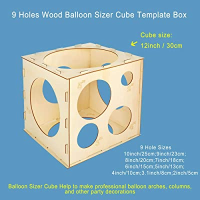 11 Holes Balloon Sizer Box Square Balloon Measurement Box for Home Party Decor