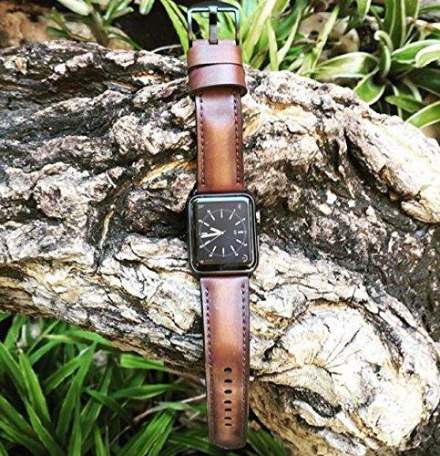 Custom 22mm Handmade Premium Calf Leather Watch Band Gunny Straps - RLX Serie