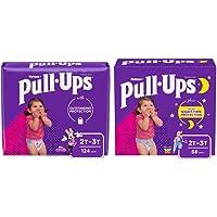 Pull-Ups Night-Time Girls' Training Pants, 2T-3T, 68 Ct & Pull-Ups Learning Designs Girls' Training Pants, 2T-3T, 124 Ct