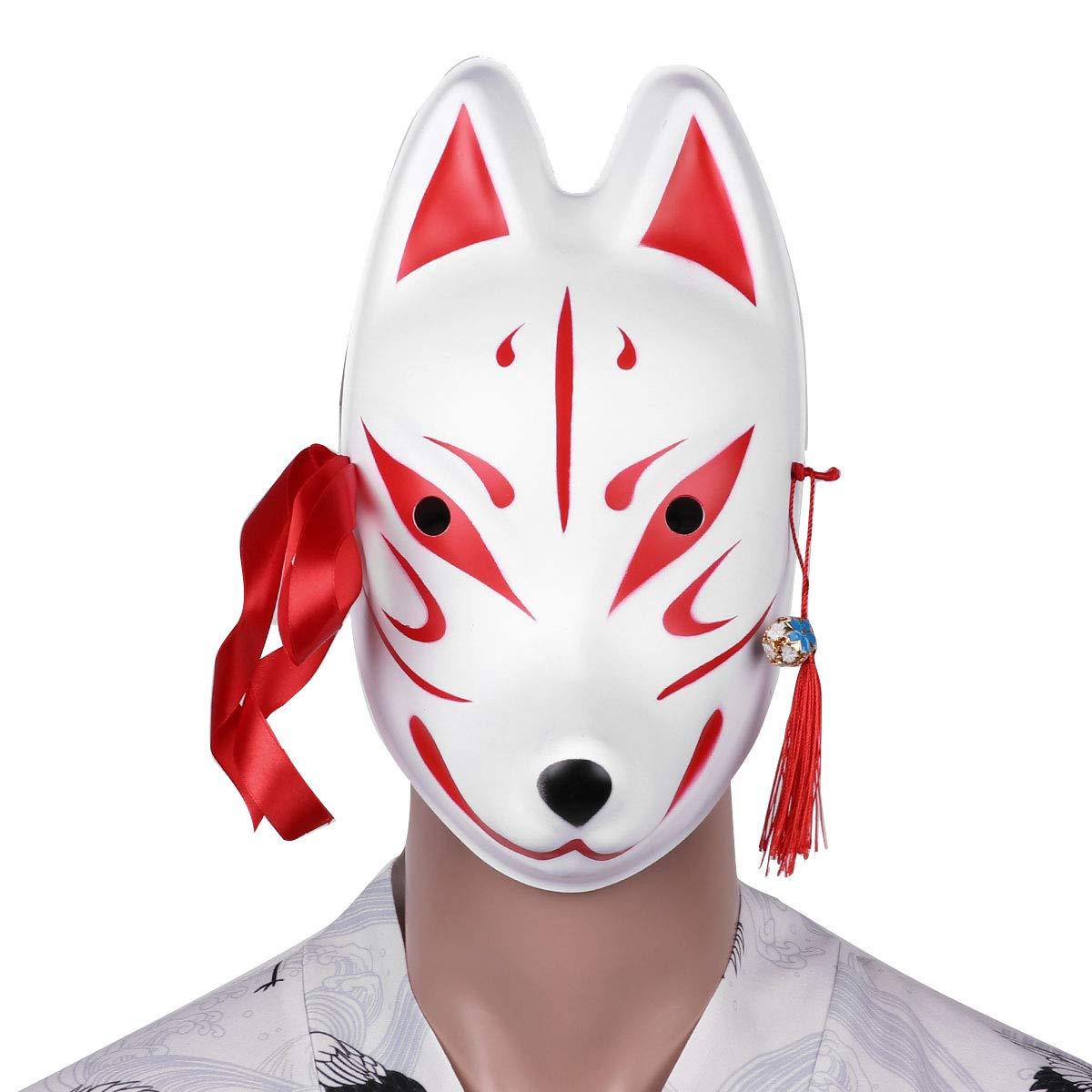 Amazon.com: YiZYiF Fox/Mascarilla de conejo con borlas Bells ...