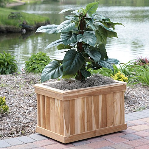 (Rectangle Teak Wood Ridge Tree Box)