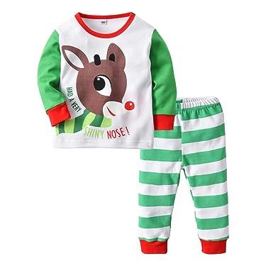 f0794b11e314 Amazon.com  XINXINHAIHE Toddler Boy Girl 2Pcs Sleeper Outfit Set ...