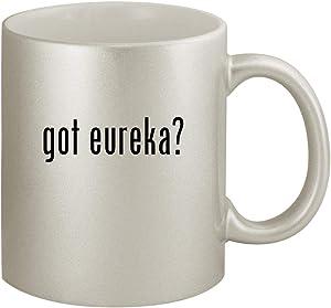 got eureka? - Ceramic 11oz Silver Coffee Mug, Silver