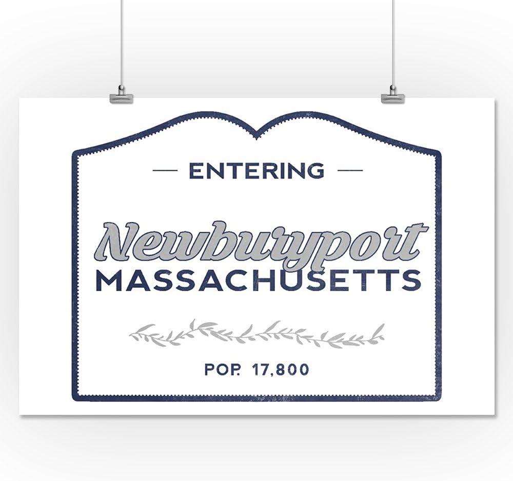 24x36 SIGNED Print Master Art Print - Wall Decor Poster Newburyport 75903 Now Entering Blue Massachusetts