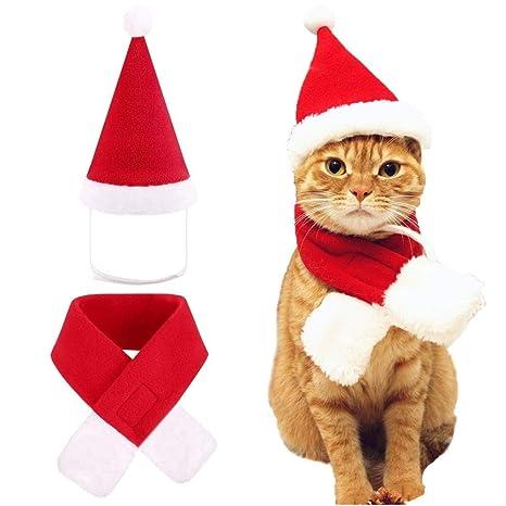 Santonliso Perro Gato Mascota Caps del Sombrero de Santa ...