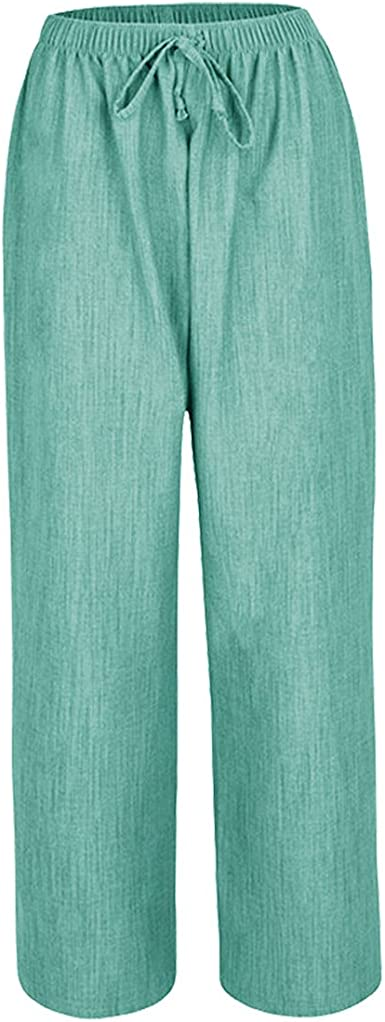 NEW LADIES WOMENS FULLY ELASTICATED WAIST SUMMER  TROUSERS  SIZE 12-24