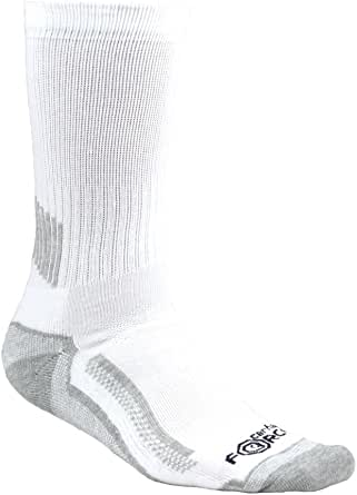 Carhartt Men`s Heavy Duty Cushion Work Crew Socks | White, Black, Grey in Big & Tall | Pack of 3