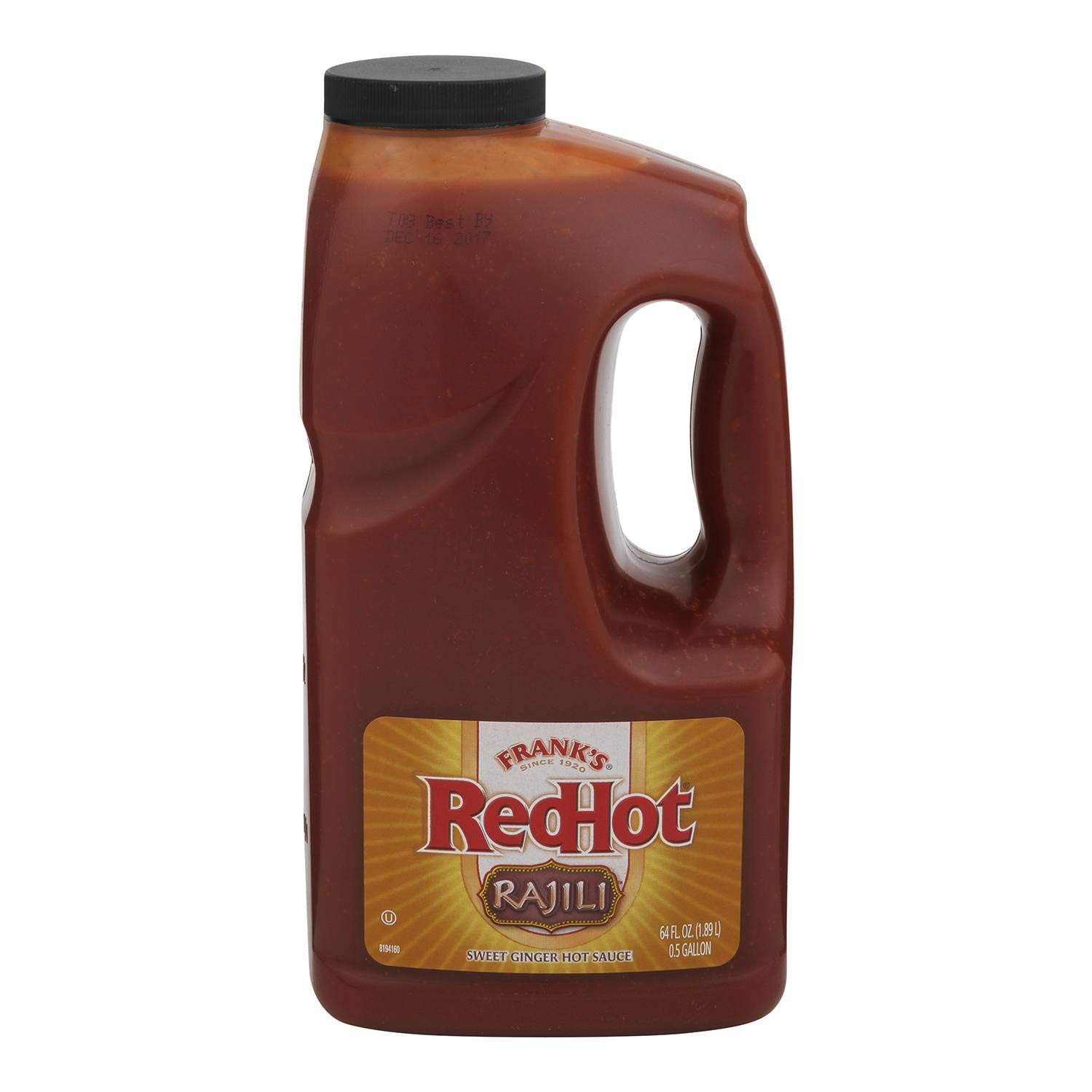 Franks RedHot Rajili Sweet Asian Ginger Sauce, 0.5 Gallon - 4 per case. by French's