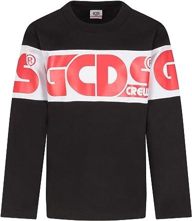 GCDS Kids – Camiseta negra para niño 8 A/Y 8 Años: Amazon.es ...