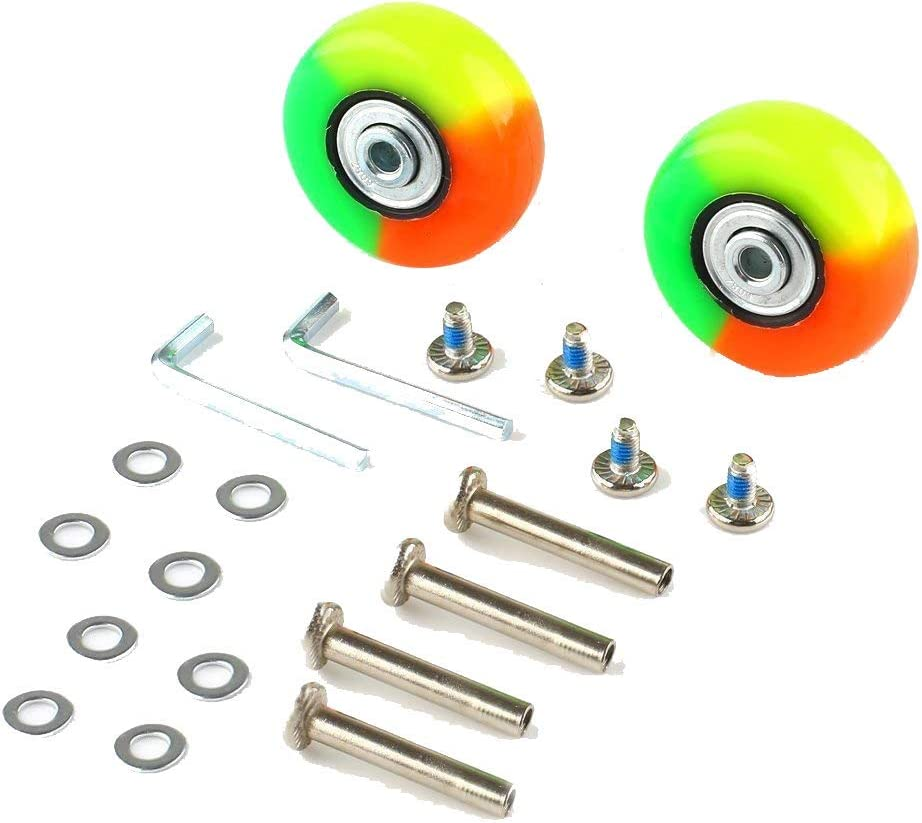 GSHFIGHTING Wear-Resistant Mute Luggage Suitcase Replacement Wheels w//ABEC 608zz Skate Inline Outdoor Skate Repair Kits 2 Wheels Sets