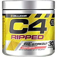 Cellucor C4 Ripped Pre Workout Powder Energy Drink para hombres y mujeres con extracto de grano de café verde, lima de cereza, 30 porciones