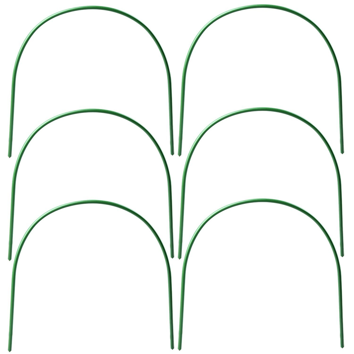 D.F.L 10 Pcs Hoop Greenhouse Frame,Garden Hoops 4ft Long Plant Hoops Rust-Free Grow Tunnel,Garden Tunnel Hoop Support Hoops for Garden Stakes Fabric